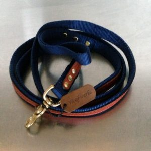 "The Cooper Leash Blue 3/4"" x 6'"