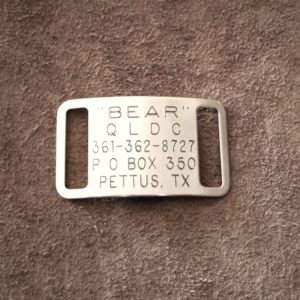 Slide-on Collar Tag in Stainless