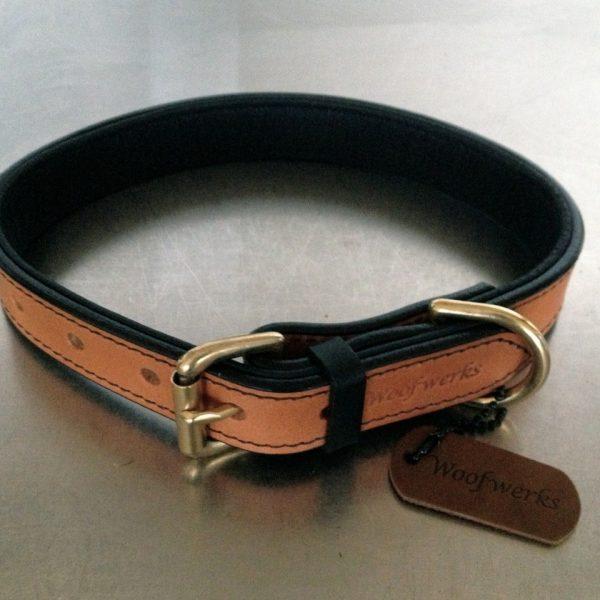 The Black and Tan - Premium Leather Collar