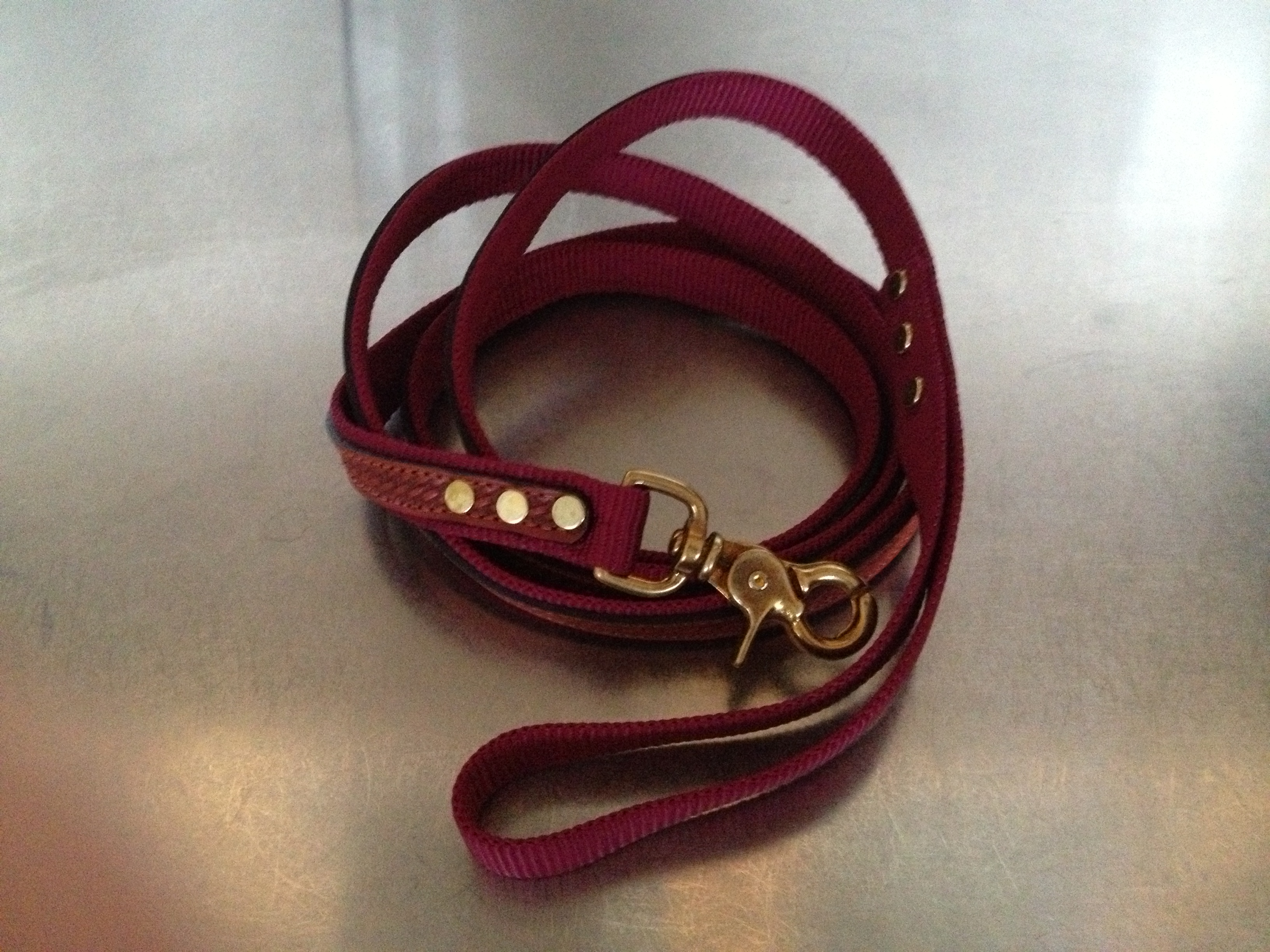 "The Cooper Leash Wine 3/4"" x 6'"
