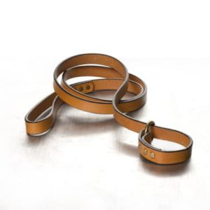 "The Polo Slip Lead Tan with Brass 3/4"" x 5'"